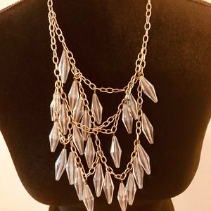 Jewelry - Clear Crystal Multi-layered Necklace